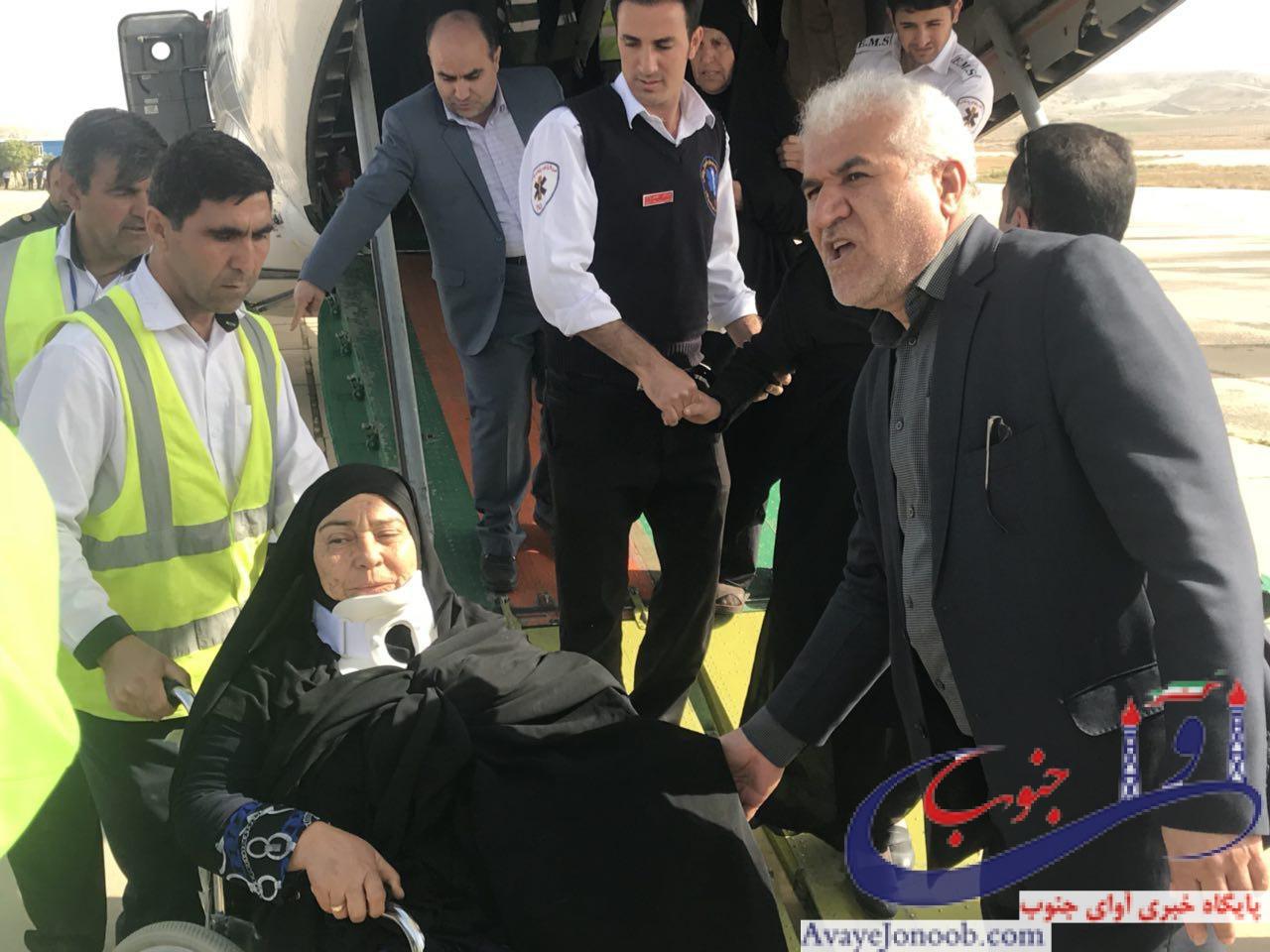 باهمت سازمان هوا فضا سپاه و اورژانس کشور/انتقال ۳۳ نفر از حادثه دیگان واژگونی اتوبوس زائران مشهد مقدس به گچساران+تصاویر